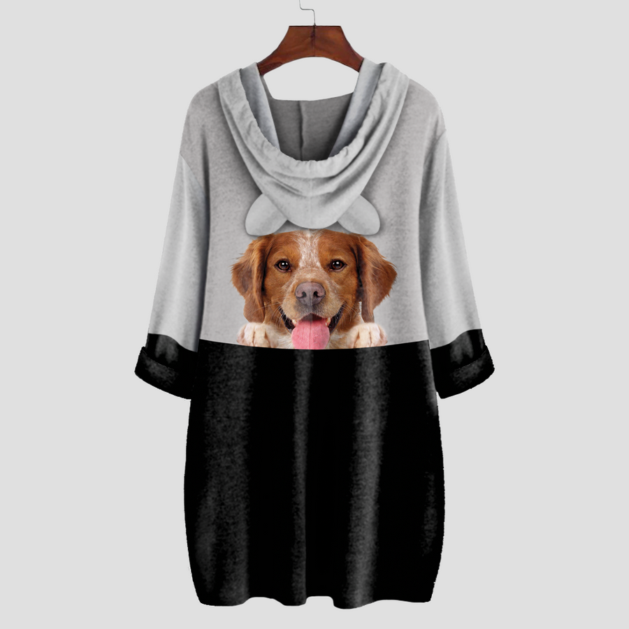 Can You See Me Now - Brittany Spaniel Hoodie met oren V1