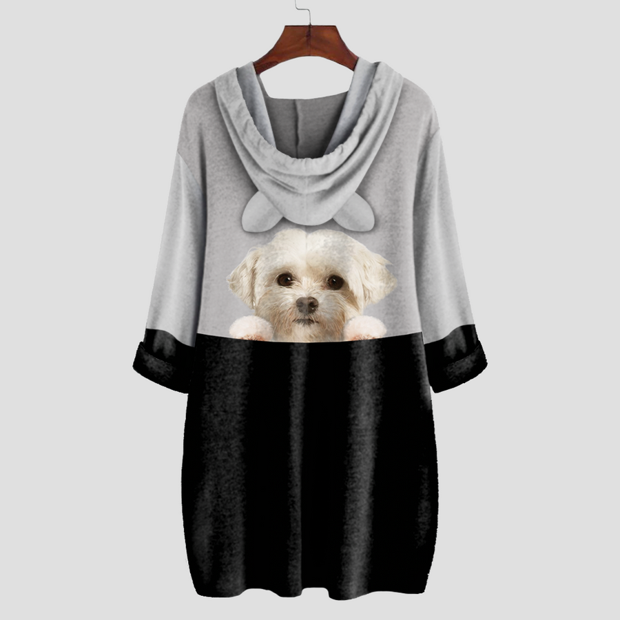 Can You See Me Now - Coton De Tulear Hoodie met oren V1