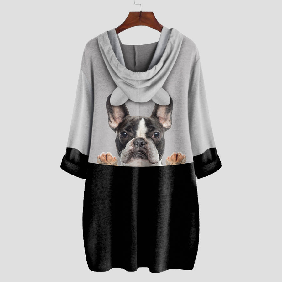 Can You See Me Now - French Bulldog Hoodie With Ears V3