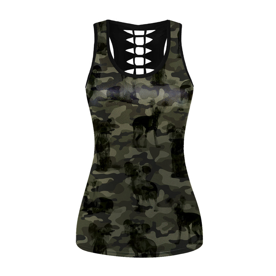 Chinese Crested Camo - Holle tanktop V1