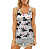 Cute Border Collie - Hollow Tank Top V1