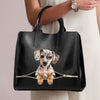 Dapple Dachshund Luxury Handbag V1