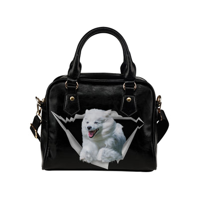 American Eskimo Shoulder Handbag