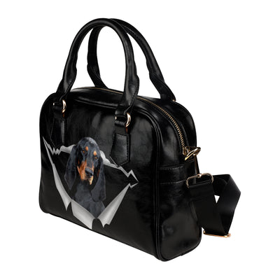 Black and Tan Coonhound Shoulder Handbag