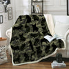 French Bulldog Camo Blanket V1