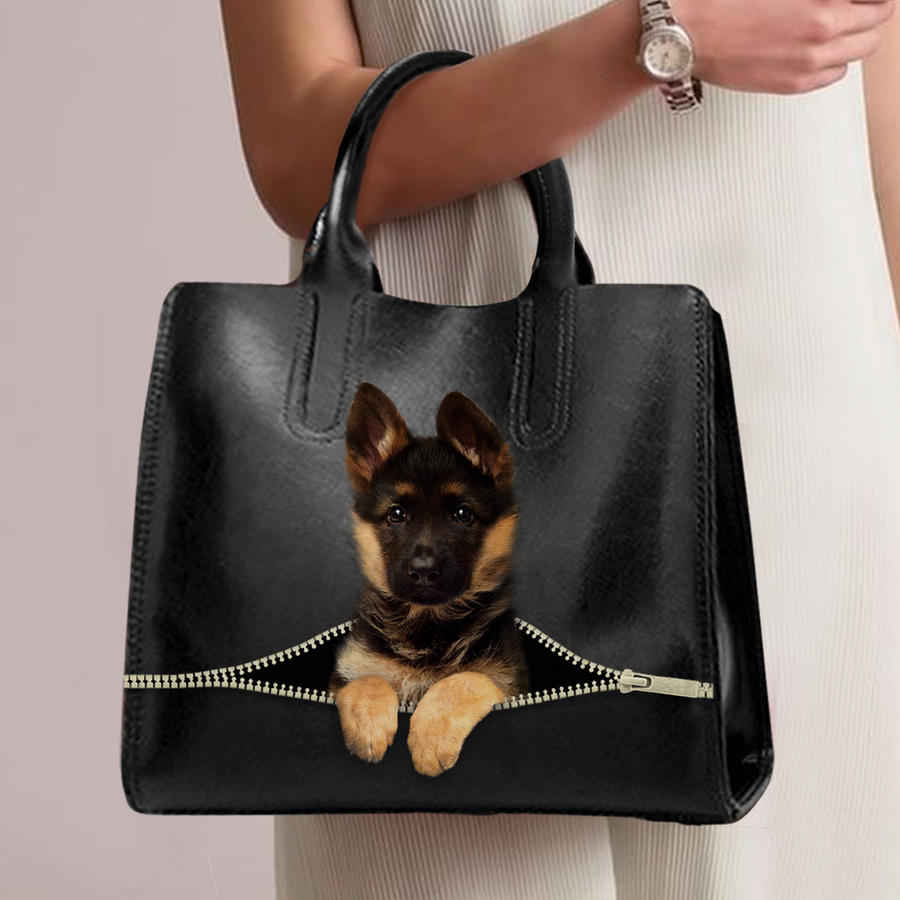 German Shepherd Luxury håndtaske V1