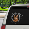 Get In - It's Time For Shopping - Abyssinian Cat Car/Door/ Fridge/ Laptop Sticker V1