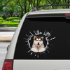 Get In - It's Time For Shopping - Alaskan Malamute Car Sticker V1