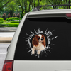 Get In - It's Time For Shopping - Cavalier King Charles Spaniel Car Sticker V1