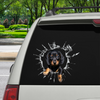 Get In - It's Time For Shopping - Dachshund Car/ Door/ Fridge/ Laptop Sticker V1