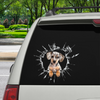 Get In - It's Time For Shopping - Dapple Dachshund Car/ Door/ Fridge/ Laptop Sticker V1