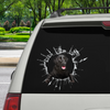 Get In - It's Time For Shopping - Flat Coated Retriever Car/ Door/ Fridge/ Laptop Sticker V1