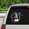 Get In - It's Time For Shopping - Old English Sheepdog Car Sticker V1