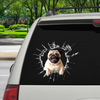 Vstupte - Je čas na nákupy - Pug Car / Door / Fridge / Laptop Sticker V1