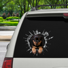 Get In - It's Time For Shopping - Rottweiler Car/ Door/ Fridge/ Laptop Sticker V2