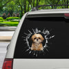 Get In - It's Time For Shopping - Shih Tzu Car/ Door/ Fridge/ Laptop Sticker V1