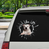 Get In - It's Time For Shopping - Staffordshire Bull Terrier Car Sticker V2