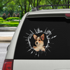 Get In - It's Time For Shopping - Welsh Corgi Car/ Door/ Fridge/ Laptop Sticker V1