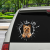 Vstupte - Je čas na nákupy - Yorkshire Terrier Car / Door / Fridge / Laptop Sticker V2