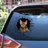 Get In - It's Time For Shopping - Bengal Cat Car Sticker V1