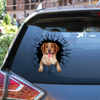 Get In - It's Time For Shopping - Brittany Spaniel Car/ Door/ Fridge/ Laptop Sticker V1