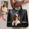 Love You - Personalized Luxury Handbag With Your Pet's Photo V1