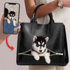 Love You - Personalized Luxury Handbag With Your Pet's Photo V2