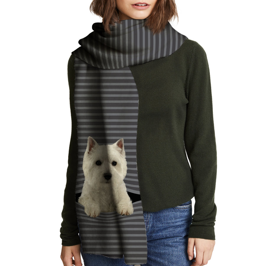 Keep You Warm - West Highland White Terrier - Sjaal V1
