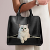 Persian Chinchilla Cat Luxury Handbag V1