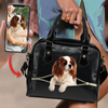 Go Out Together - Personalized Shoulder Handbag With Your Pet's Photo V1
