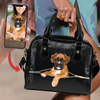 Go Out Together - Personalized Shoulder Handbag With Your Pet's Photo V1-B