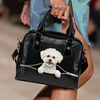 Bichon Frise Shoulder Handbag V2