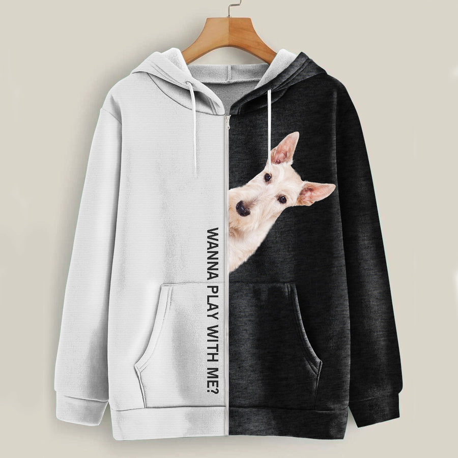 Play With Me - Scottish Terrier Hoodie V1