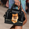 Pomeranian Shoulder Handbag V2