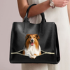 Rough Collie Luxury Handbag V1
