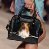 Rough Collie Shoulder Handbag V1