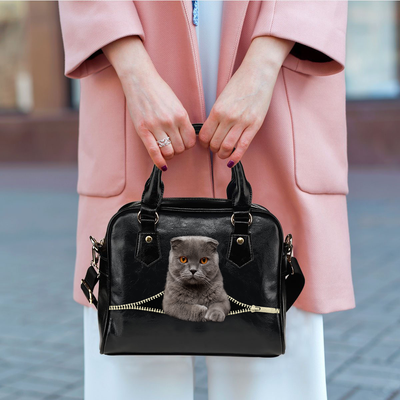 Scottish Fold Cat Shoulder Håndtaske V1
