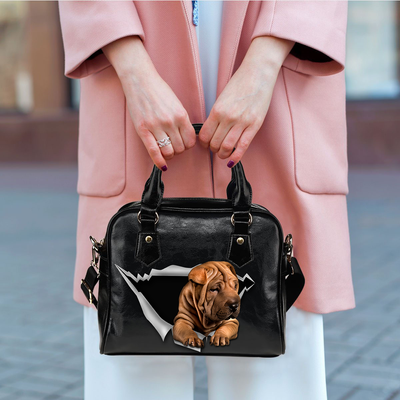 Shar Pei Shoulder Handbag V1