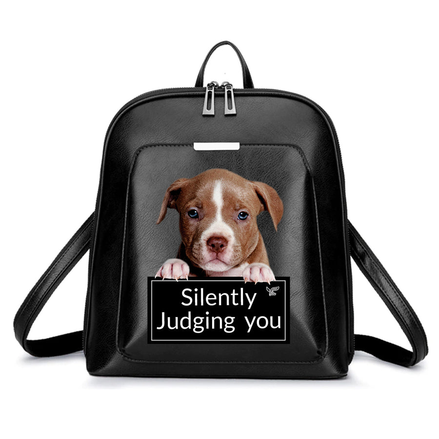 Silently Judging You - American Pit Bull Terrier-rugzak V1
