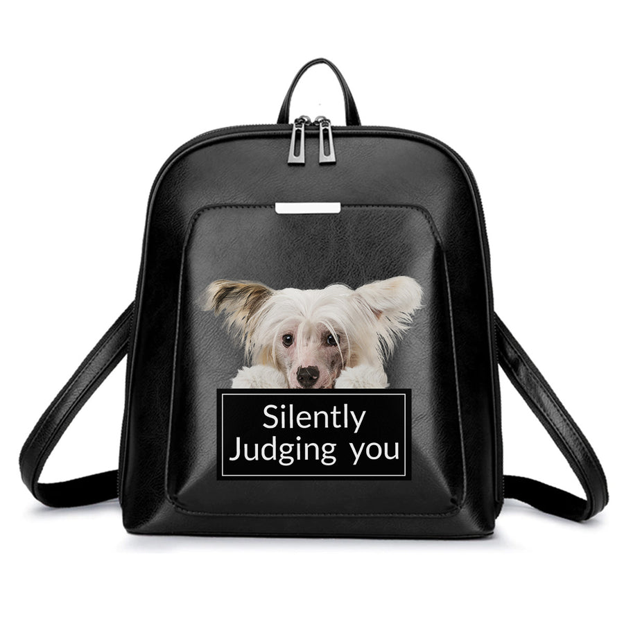 Silently Judging You - Chinese Crested Backpack V1