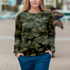 Street Style With English Pointer Camo Sweatshirt V1