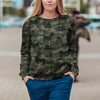 Street Style With Finnish Spitz Camo Sweatshirt V1