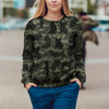 Street Style With French Bulldog Camo Sweatshirt V1