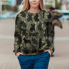 Street Style With French Bulldog Camo Sweatshirt V3