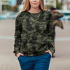 Street Style With Goldendoodle Camo Sweatshirt V1