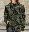 Street Style With Old English Sheepdog Camo Hoodie V1