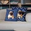 They Steal Your Couch - Pug Pillow Cases V1 (Set of 2)