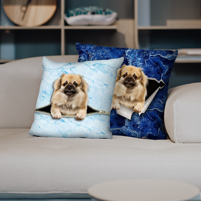 They Steal Your Couch - Tibetan Spaniel Pillow Cases V1 (Set of 2)
