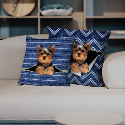 They Steal Your Couch - Yorkshire Terrier Pillow Cases V1 (Set of 2)
