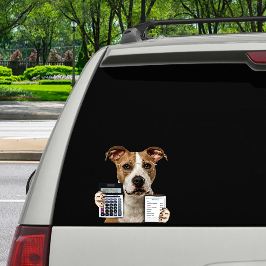 We Can't Afford The Cat - American Staffordshire Terrier Car/ Door/ Fridge/ Laptop Sticker V1